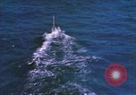 Image of Submarine at periscope depth Mediterranean Sea, 1966, second 9 stock footage video 65675076553