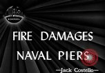 Image of damage from fire Norfolk Virginia USA, 1944, second 1 stock footage video 65675076586