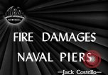 Image of damage from fire Norfolk Virginia USA, 1944, second 4 stock footage video 65675076586