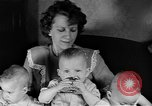 Image of triplets Weymouth Massachusetts USA, 1944, second 6 stock footage video 65675076587