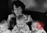 Image of triplets Weymouth Massachusetts USA, 1944, second 7 stock footage video 65675076587