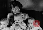 Image of triplets Weymouth Massachusetts USA, 1944, second 8 stock footage video 65675076587
