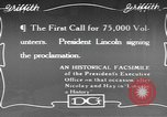 Image of Abraham Lincoln United States USA, 1916, second 1 stock footage video 65675076595