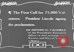 Image of Abraham Lincoln United States USA, 1916, second 7 stock footage video 65675076595
