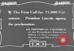 Image of Abraham Lincoln United States USA, 1916, second 9 stock footage video 65675076595