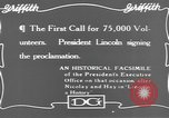 Image of Abraham Lincoln United States USA, 1916, second 11 stock footage video 65675076595