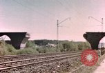 Image of bomb damaged bridge Germany, 1945, second 1 stock footage video 65675076628