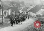 Image of AEF artillerymen moving through a French Village France, 1918, second 5 stock footage video 65675076714
