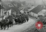 Image of AEF artillerymen moving through a French Village France, 1918, second 9 stock footage video 65675076714