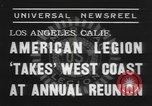 Image of American Legion Los Angeles California USA, 1938, second 6 stock footage video 65675076797