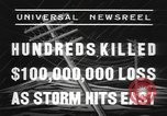 Image of hurricane United States USA, 1938, second 9 stock footage video 65675076798