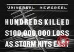 Image of hurricane United States USA, 1938, second 11 stock footage video 65675076798