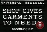 Image of Mays garments for needy Brooklyn New York City USA, 1934, second 1 stock footage video 65675076824
