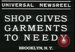 Image of Mays garments for needy Brooklyn New York City USA, 1934, second 2 stock footage video 65675076824