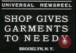 Image of Mays garments for needy Brooklyn New York City USA, 1934, second 3 stock footage video 65675076824