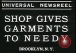 Image of Mays garments for needy Brooklyn New York City USA, 1934, second 5 stock footage video 65675076824