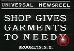 Image of Mays garments for needy Brooklyn New York City USA, 1934, second 6 stock footage video 65675076824