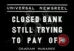 Image of bank failure during Great Depression Chicago Illinois USA, 1934, second 8 stock footage video 65675076826