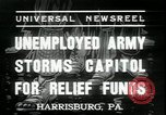 Image of unemployed people seeking aid Harrisburg Pennsylvania USA, 1936, second 2 stock footage video 65675076828