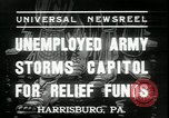 Image of unemployed people seeking aid Harrisburg Pennsylvania USA, 1936, second 4 stock footage video 65675076828