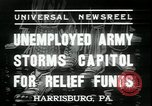 Image of unemployed people seeking aid Harrisburg Pennsylvania USA, 1936, second 5 stock footage video 65675076828