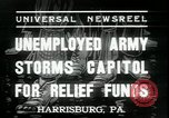 Image of unemployed people seeking aid Harrisburg Pennsylvania USA, 1936, second 7 stock footage video 65675076828
