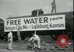 Image of water for drought relief Louisburg Kansas USA, 1936, second 10 stock footage video 65675076829