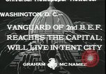 Image of Bonus Expeditionary Force Washington DC USA, 1933, second 7 stock footage video 65675076830