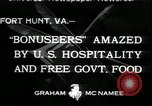 Image of Bonus Expeditionary Force Fort Hunt Virginia USA, 1933, second 1 stock footage video 65675076831