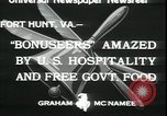 Image of Bonus Expeditionary Force Fort Hunt Virginia USA, 1933, second 7 stock footage video 65675076831