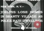 Image of shanty village cleared by police New York United States USA, 1933, second 4 stock footage video 65675076833