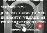 Image of shanty village cleared by police New York United States USA, 1933, second 6 stock footage video 65675076833