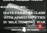 Image of Dairy farmers protest prices and dump milk Mukwonago Wisconsin USA, 1933, second 7 stock footage video 65675076834
