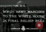 Image of Bonus Expeditionary Force Washington DC USA, 1933, second 1 stock footage video 65675076835