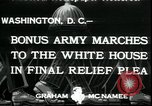Image of Bonus Expeditionary Force Washington DC USA, 1933, second 2 stock footage video 65675076835