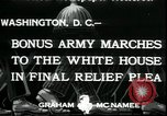 Image of Bonus Expeditionary Force Washington DC USA, 1933, second 4 stock footage video 65675076835