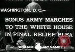 Image of Bonus Expeditionary Force Washington DC USA, 1933, second 5 stock footage video 65675076835