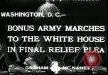 Image of Bonus Expeditionary Force Washington DC USA, 1933, second 6 stock footage video 65675076835