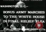 Image of Bonus Expeditionary Force Washington DC USA, 1933, second 7 stock footage video 65675076835