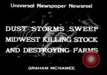 Image of dust storm Midwest United States USA, 1934, second 6 stock footage video 65675076836