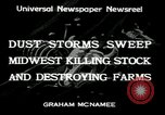 Image of dust storm Midwest United States USA, 1934, second 7 stock footage video 65675076836
