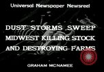Image of dust storm Midwest United States USA, 1934, second 8 stock footage video 65675076836