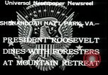Image of Franklin D Roosevelt with CCC members Virginia United States USA, 1933, second 3 stock footage video 65675076837
