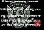 Image of Franklin D Roosevelt with CCC members Virginia United States USA, 1933, second 4 stock footage video 65675076837