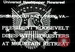 Image of Franklin D Roosevelt with CCC members Virginia United States USA, 1933, second 5 stock footage video 65675076837