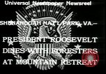 Image of Franklin D Roosevelt with CCC members Virginia United States USA, 1933, second 6 stock footage video 65675076837