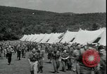 Image of Franklin D Roosevelt with CCC members Virginia United States USA, 1933, second 10 stock footage video 65675076837