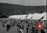 Image of Franklin D Roosevelt with CCC members Virginia United States USA, 1933, second 11 stock footage video 65675076837