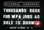 Image of unemployed men seek WPA relief jobs New York City USA, 1935, second 1 stock footage video 65675076839