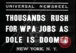 Image of unemployed men seek WPA relief jobs New York City USA, 1935, second 2 stock footage video 65675076839